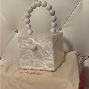 Cult Gaia Marble White Box Bag